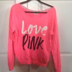 Pink size small sweatshirt